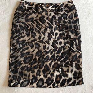 Worthington size 12 animal print lined skirt